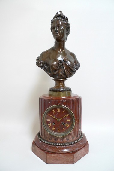 French bronze able Clock