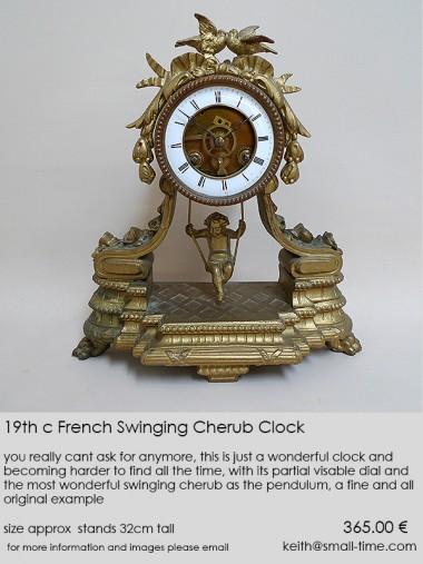 19thc Swinging Cherub